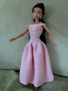 Crochet Barbie, Dancer's Dress, by Hazel Furst. FREE pattern on Ravelry