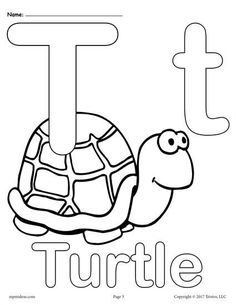 FREE Printable Uppercase And Lowercase Letter T Coloring Page Worksheets Like This Are