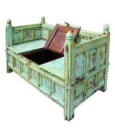 Another great find on #zulily! Green Antique Storage Bench by Vintage Addiction #zulilyfinds
