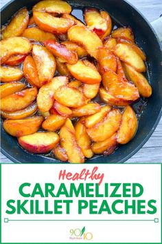 Healthy Meals For Kids healthy caramelized skillet peaches - Healthy Caramelized Skillet Peaches is just one of the many ways we love to devour, er, I mean, eat our peaches each summer. Fruit Recipes, Summer Recipes, Gourmet Recipes, Cooking Recipes, Healthy Baked Peaches, Peach Recipes Breakfast, Peach Recipes Dinner, Fresh Peach Recipes, Soup Recipes