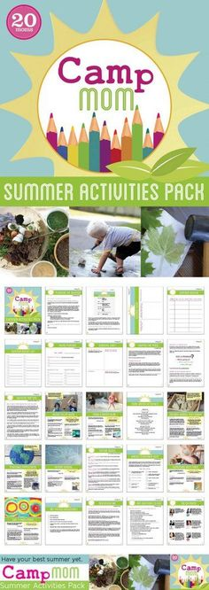 Camp Mom: Summer Activities e-Pack - make summer more fun and easier to plan with free printables.
