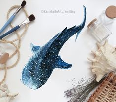 Whale shark painting Whale print Watercolor print Whale Poster Wall decor Watercolor clipart Nautical decor - Tattoos I Want - Watercolor Clipart, Watercolor Whale, Tattoo Watercolor, Whale Shark Tattoo, Whale Sharks, Whale Shark Card, Whales, Hai Illustration, Poster Wall
