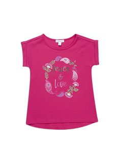 Pumpkin Patch - tees - love and peace tee - - fuchsia rose - 5 to 12 Pumpkin Patch Outfit, Patch Shop, Summer 2015, Peace And Love, Kids Outfits, Tees, Mens Tops, Clothes, Shopping