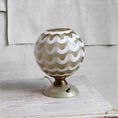 Mid-Century Venetian Glass Lamp  by Trampoline Vintage