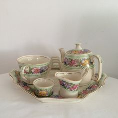 Royal Winton Grimwades Nevin  Moulded six 6 by modernlookvintage