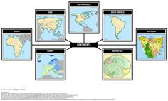 Let's make a Spider Map for the continents using Storyboard That!