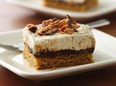 Peanut-Buttery Fudge Bars Recipe from Betty Crocker