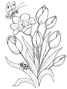 Trendy embroidery flowers pattern coloring pages ideas Embroidery Flowers Pattern, Flower Patterns, Embroidery Stitches, Butterfly Pattern, Machine Embroidery, Ladybug Coloring Page, Pattern Coloring Pages, Coloring Pages Of Flowers, Printable Flower Coloring Pages