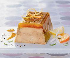 Décembre 2013 : Zeste de foie gras de canard du Sud-Ouest mi-cuit, glacis orange et citron confits