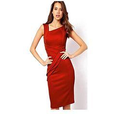 Sexy/Bodycon - Kleid Ärmellos - FRAUEN - Kleider ( Baumwoll Mischung ) 2255403 2016 – €15.67