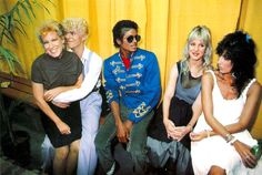 Bette Midler, David Bowie, Michael Jackson, Cher's sister Georganne, and Cher.