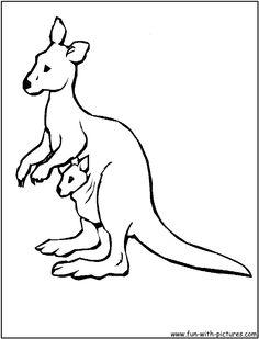 Tree Kangaroo Coloring Pages