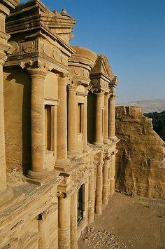 View over Ad-deir (the monastery), Petra, Jordan
