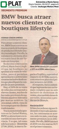 Inchcape Motors Perú: Entrevista a Mario Sarco en el diario Gestión de Perú (01/12/17)
