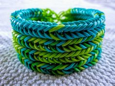 Rainbow Loom Sky's the Limit Stacked Bracelet pattern #rainbowloom