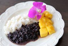 Klasický thajský recept: sladká rýže s mangem.