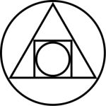 The alchemic symbol for the Philosopher's Stone - said to have the power to cure all sickness, give back lost youth, and transmute base metals into silver and gold.