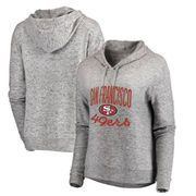 San Francisco 49ers NFL Pro Line by Fanatics Branded Women's Cozy Steadfast Pullover Hoodie – Heathered Gray | @giftryapp
