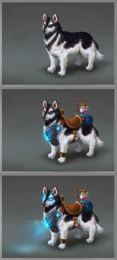 Huskies mount concept