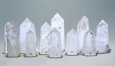 Rock crystal Obelisks from Phoenix Gallery.