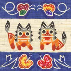 an Okinawan dyeing technique characterized by the use of a paper pattern and vivid colors