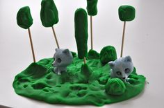 #Playdough Forest for Raccoons by SortingSprinkles,