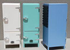 High Blue Cooler Fridge & Freezer by MenutmonShop on Etsy