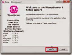 Installing a local server using WAMP on computer for php laravel framework