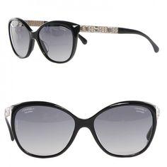 a9295b562c CHANEL Crystal Baguette Polarized Cat Eye Sunglasses 5309-B-A