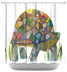 Turtle Shower Curtain eclectic-shower-curtains