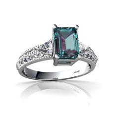 14K White Gold Emerald-cut Created Alexandrite Ring Jewels For Me, http://www.amazon.com/dp/B0006UTV9K/ref=cm_sw_r_pi_dp_F6Rfrb1Y17GRR