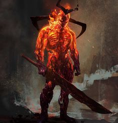 """2,216 Likes, 12 Comments - Aleksi Briclot (@aleksibriclot) on Instagram: """"Another concept for Surtur in Thor : Ragnarok!! We've moved on this one to some more flames and…"""""""