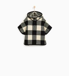 CHECK PONCHO-SWEATERS AND CARDIGANS-BABY GIRL | 3 months - 4 years-KIDS | ZARA United States