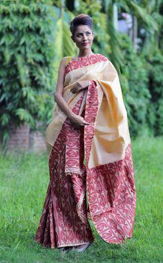 Buy Assam Mekhela & Chador silk at www.ethnicroom.com