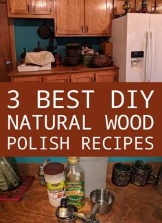 Stop using caustinc chemicals on the wood in your furniture. We've got 3 dirt-cheap and simple all-natural wood polish recipes you can try. #nloah #woodpolish #diy #homesteading