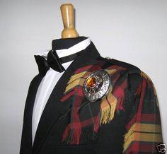 Kilt Fly Plaid in Black Hunting MacMillan Tartan, Fringed  Made in Scotland for sale on ebay