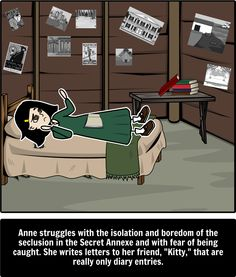an analysis of the theme of conflicts in the diary of a young girl by anne frank Anne frank's diary is rich with lessons about love and loss her diary shows the workings of anne's mind as she copes with the challenges of being.