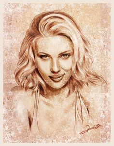 ART :: Scarlett Johansson Illustration - by Renato Cunha