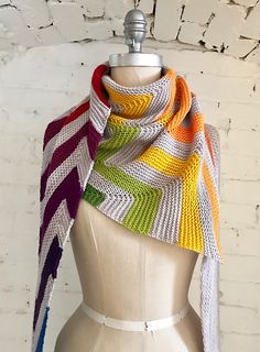 Ravelry: EspaceTricot's Prismatic Rockin' Rows