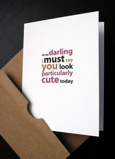 Love Card — Particularly Cute — Humorous Card for Him, Her, Husband, Wife, Boyfriend, Girlfriend — Anniversary, Birthday, Valentine — by allotria on Etsy