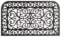 Imports Decor Rubber Doormat, Monarch, 18-Inch by 30-Inch by Imports Décor. $29.99. Durable and always looks new. Ideal for pool and wet areas. Measures 18-inch by 30-inch. 100-percent vulcanized rubber. Molded into various wrought iron-inspired designs. Add elegance to your entryway with this wrought iron-inspired rubber doormat from Imports Decor. Manufactured by molding vulcanized natural rubber into beautiful designs replicating old world wrought iron gates. Thi...