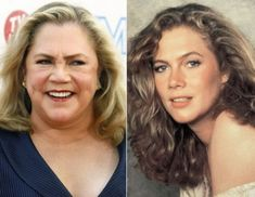 Kathleen Turner now and when she was younger