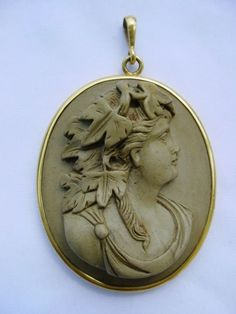SUPERB ANTIQUE ITALIAN GOLD HIGH RELIEF LAVA CAMEO PENDANT OF GODDESS 14k LARGE in Jewelry & Watches, Vintage & Antique Jewelry, Fine | eBay!