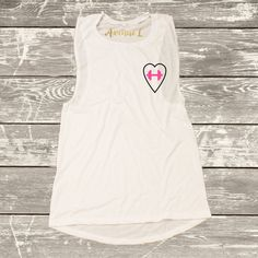 Dumbell Heart Muscle Tank by TheAvenueL on Etsy #fitness #workouttank