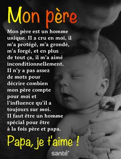Papa Quotes, Me Quotes, Famous Love Quotes, Parenting Fail, French Quotes, French Lessons, Positive Affirmations, Beautiful Words, About Me Blog