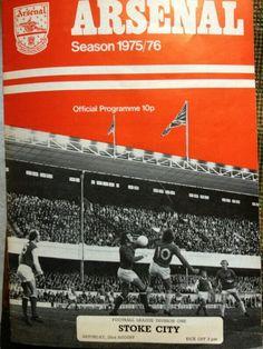 Official program - Arsenal vs Stoke 1975