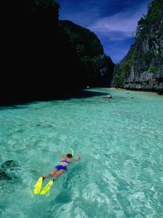 size: Photographic Print: Snorkelling in the Big Lagoon, El Nido Poster by Mark Daffey : Subjects Around The World In 80 Days, Around The Worlds, Places To Travel, Places To See, Beach Vacation Tips, Philippine Tours, El Nido Palawan, Singapore Travel, Snorkelling