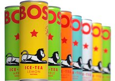 Bos Ice Tea packaging. Love this design!