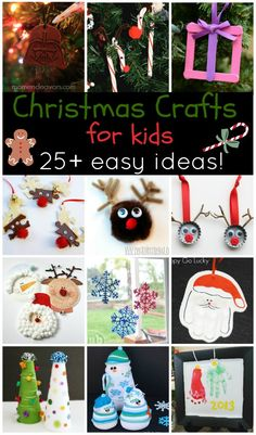 25 Easy Christmas Crafts for Kids! Holiday Crafts For Kids, Noel Christmas, Christmas Crafts For Kids, Christmas Activities, Xmas Crafts, Simple Christmas, Winter Christmas, Holiday Fun, Kid Crafts