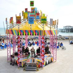 London artist whose work is characterised by boldness, strong use colour and high levels of positive energy - Morag Myerscough Tate St Ives, Tatty Devine, Community Building, Town And Country, East Sussex, Centre Pieces, Art Festival, High Level, Art Museum